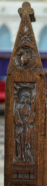 The Abbey Church of Saints Peter and Paul: Carved Figure