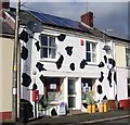 SN3218 : Colourful 'Cow' Post Office, Bancyfelin by welshbabe