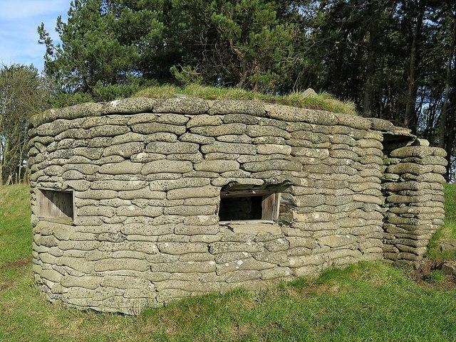 Pillbox north of Dunstan Square