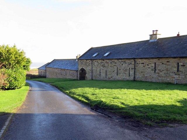 Converted farm buildings at Dunstan Steads