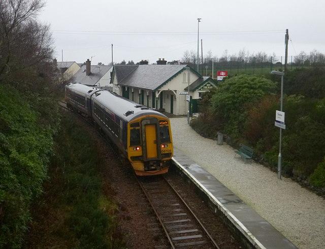 Train in the rain, at Plockton Station