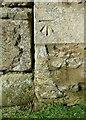 SK8707 : Bench mark, Orchard Close, Egleton by Alan Murray-Rust