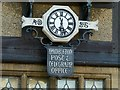 SK9007 : Clock and sign on the old Post Office by Alan Murray-Rust