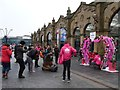 SK3586 : In the pink at Sheffield railway station by Christine Johnstone