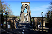 ST5673 : Approaching the Clifton Suspension Bridge by Chris Heaton