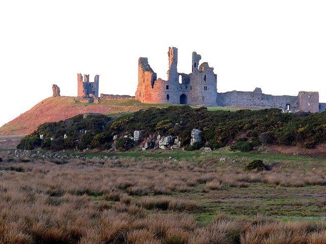 Dunstanburgh Castle from south
