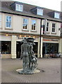 SP0201 : Rear view of a public sculpture in Brewery Court, Cirencester by Jaggery