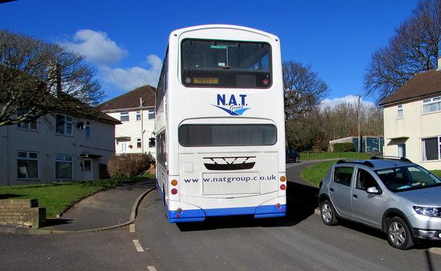 NAT double-decker, Brynglas Drive, Newport