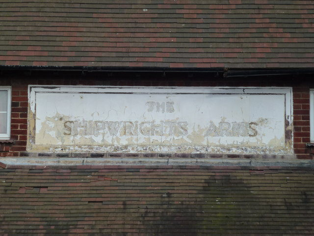 The Shipwrights Arms (Sign) - Public Houses, Inns and Taverns of Wisbech