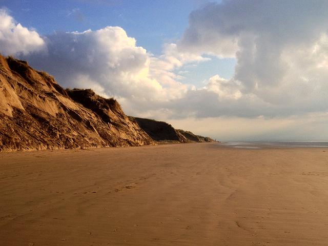 Formby Beach, Sand Cliffs near Formby Point