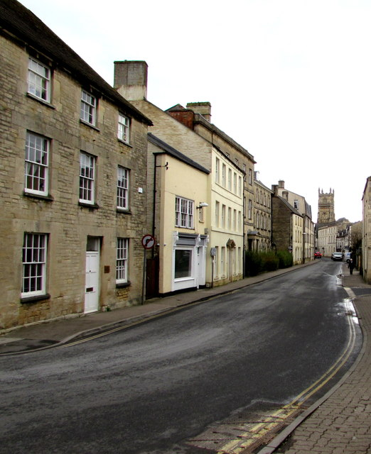 Dollar Street towards Cirencester town centre
