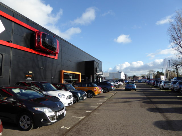 Car dealership on Featherbed Lane, Shrewsbury
