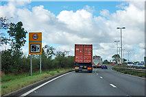 SK6975 : A1 northbound - speed camera warning by Robin Webster