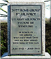TF9114 : 392 Bomb Group Memorial at Beeston (detail) by Evelyn Simak