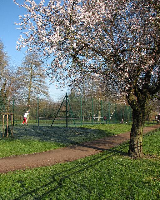 Winter tennis on Coleridge Rec