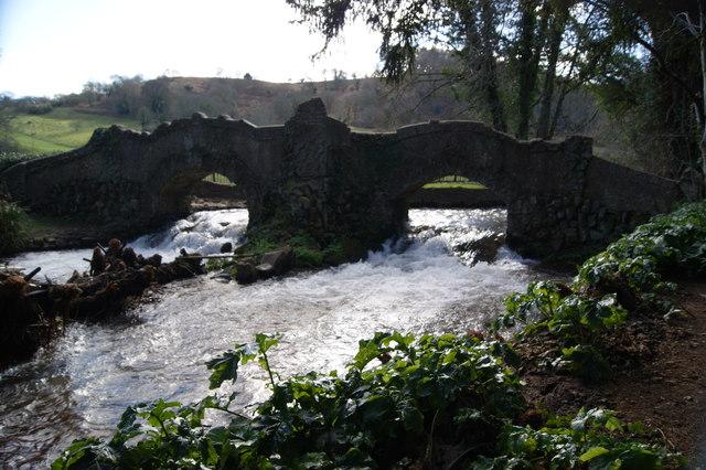 Bridge over the River Avill in Dunster Castle grounds