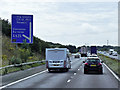 SE5205 : Southbound A1M (Doncaster Bypass) at Junction 37 by David Dixon