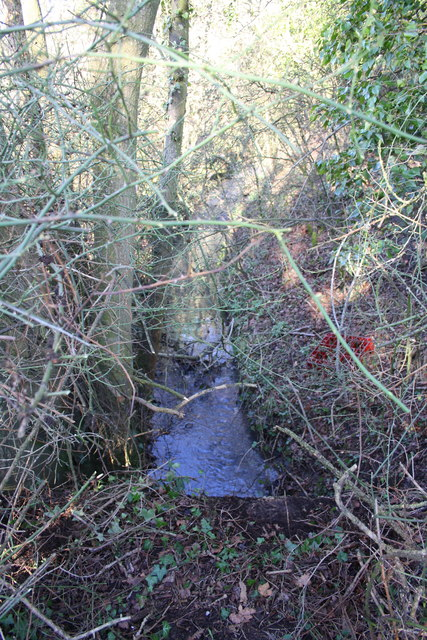 Ditch beside Wroslyn Road at junction with Cuckoo Lane