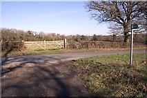 SP4111 : Field gateway beside Cuckoo Lane opposite footpath by Roger Templeman