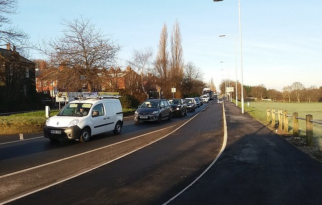 Two lanes into one, Stanningley Road