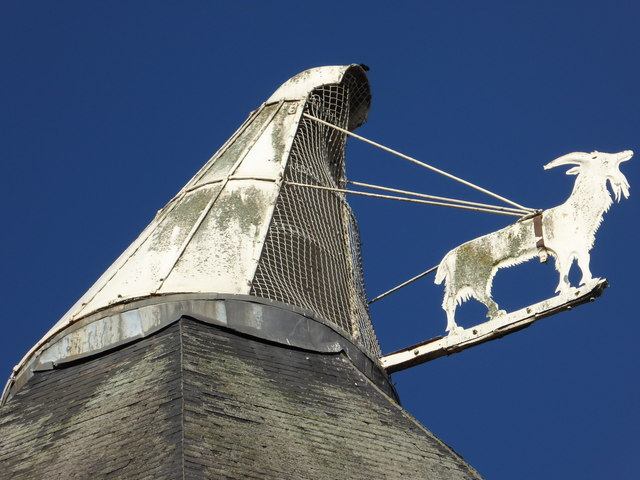 Goat and cowl on a former brewery