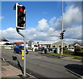 SM9311 : Pelican crossing in the north of Johnston by Jaggery