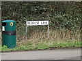 TL6002 : Redrose Lane sign by Adrian Cable