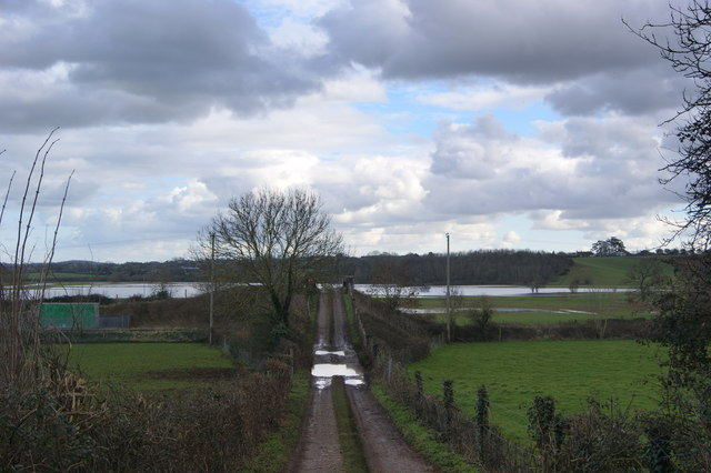 Flooded West Moor taken from Charlton bridge