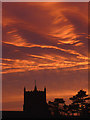 SD4972 : Fiery sky over Warton by Karl and Ali