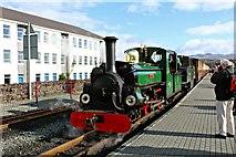 SH5738 : Linda heads the 13.35 train for Rhyd-Ddu by Richard Hoare