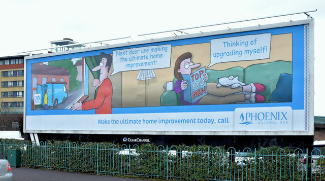 "Phoenix Gas ""home improvements"" poster, Belfast (February 2016)"