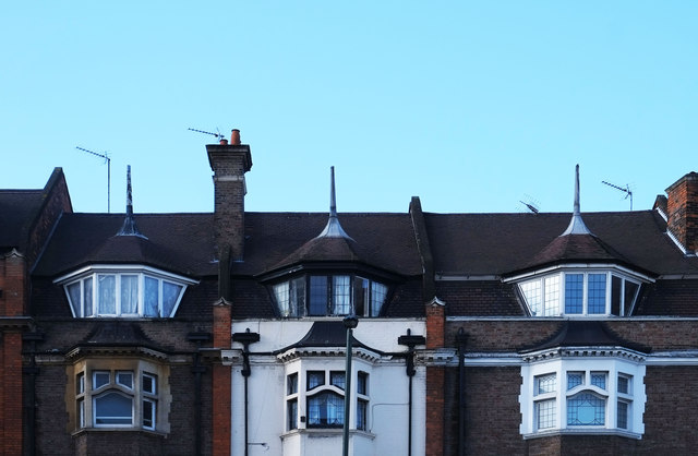 Conical dormer windows, Golders Green