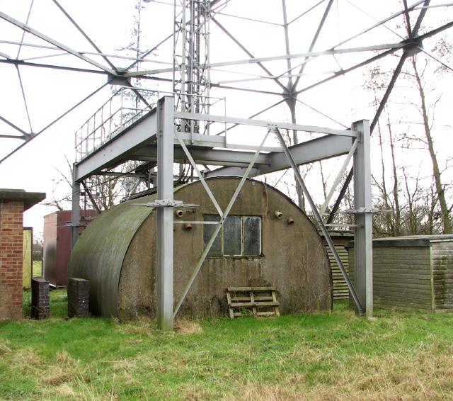 Nissen hut beneath tower 4