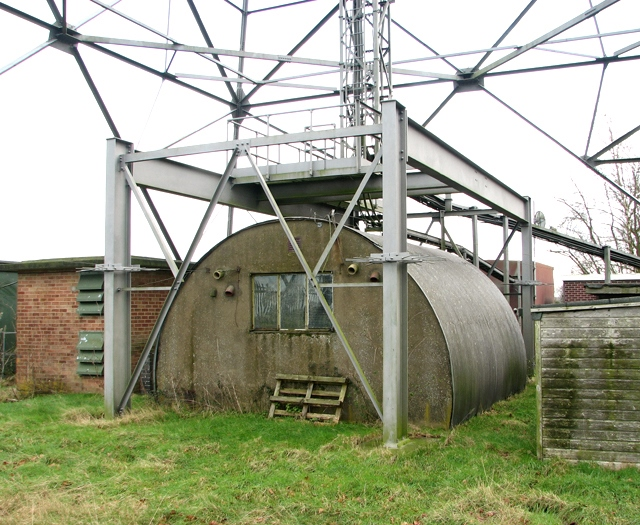 Nissen hut beneath tower 4