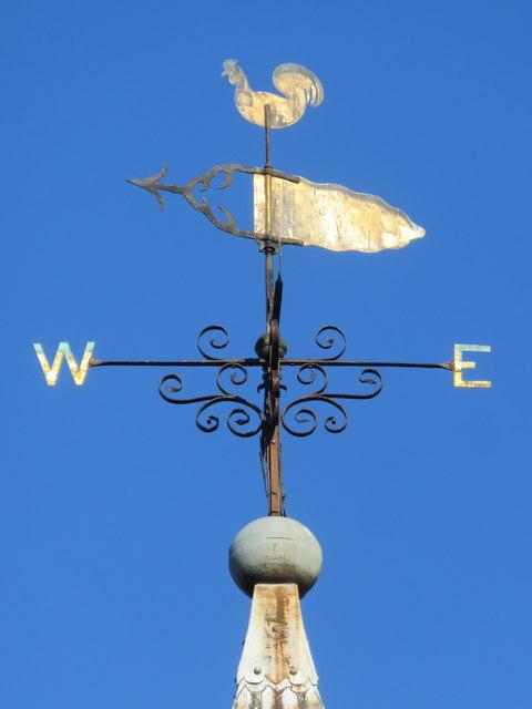 Weathervane on St Michael's church, Eastgate Street