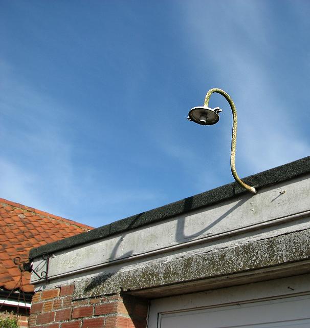 Lamp on the vehicle garage