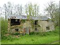 SY4799 : Ruined barn on River Brit near Netherbury by Becky Williamson