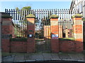 SJ4166 : Former entrance to Chester Waterworks Company from The Mount by John S Turner