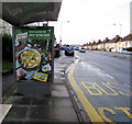 ST3090 : Knorr advert on a Malpas Road bus shelter, Newport by Jaggery