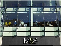 SO8554 : Lunchtime in M&S by Philip Halling