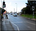 SM9310 : Pelican crossing, St Peter's Road, Johnston by Jaggery
