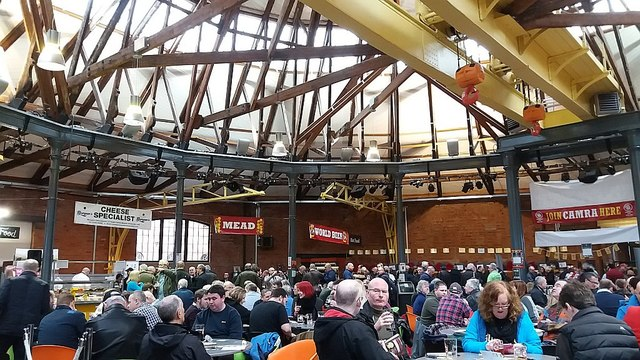 Beer festival in the roundhouse