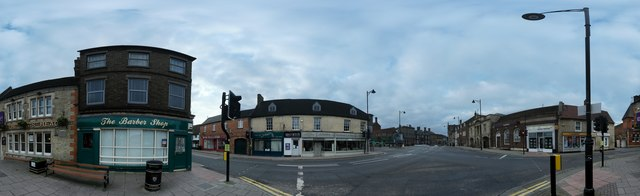 Panorama of Bourne Town centre