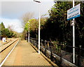 ST1880 : Bilingual name sign, Heath Low Level station, Cardiff by Jaggery