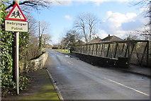 SM9310 : Warning sign - patrol, Langford Road, Johnston by Jaggery