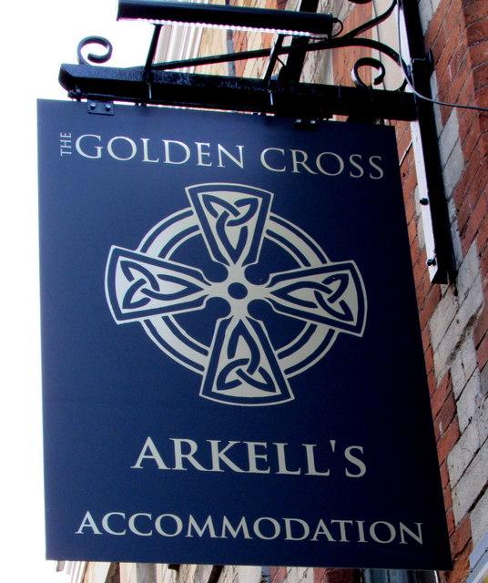 Golden Cross name sign, Black Jack Street, Cirencester