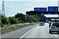 SK4990 : Southbound M18, approaching Interchange with M1 by David Dixon