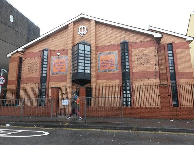 Cardiff: gurdwara and Sikh centre in Tudor Street