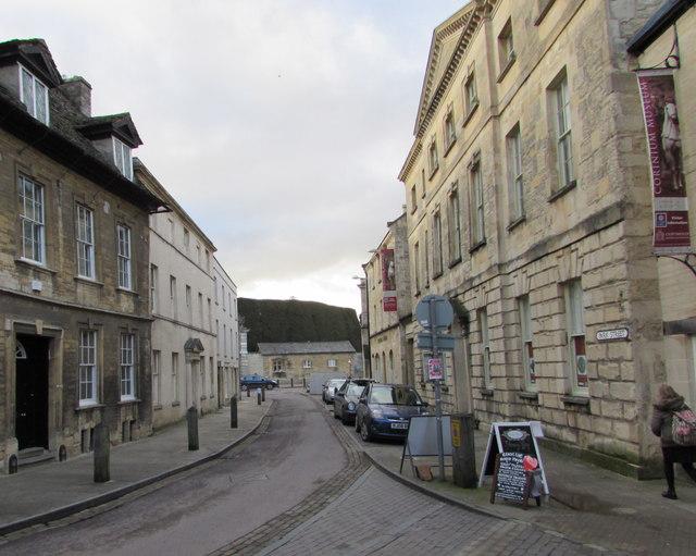 West along Park Street, Cirencester