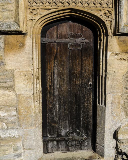 Priest's door, All Saints' church, Collingham